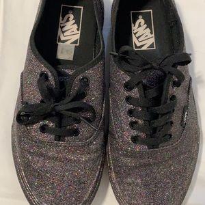 Vans authentic glitter shoe W sz 9 or M sz 7.5